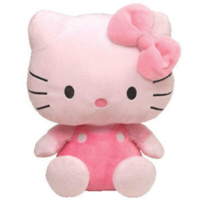 TY Pluffies - HELLO KITTY (PINK - 8.5 inch) - MWMTs Stuffed Animal Toy