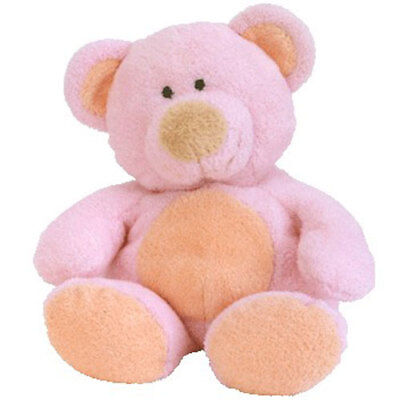TY Pluffies - PINKS the Bear (10 inch) - MWMTs Stuffed Animal Toy