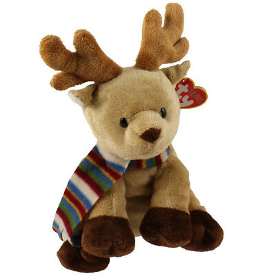 TY Pluffies - SPICE the Reindeer (Barnes & Noble Exclusive) (8.5 inch) - MWMTs
