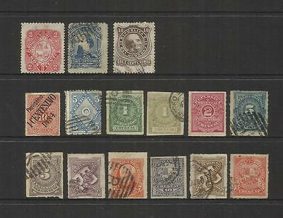 Uruguay~ 1883-1884 Definitives (Used Part Sets)