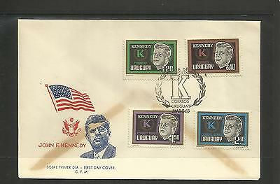 Uruguay ~ 1965 J.f.k. Kennedy Memorial Covers (Faults)