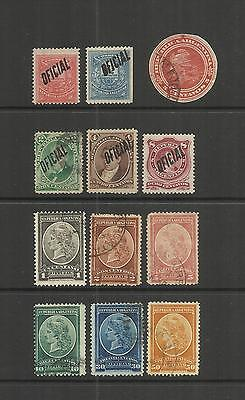 Argentina ~ 1884-1901 Official Stamps (Most Used)