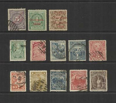 Uruguay~ 1891-95 Definitives (Used Part Sets)