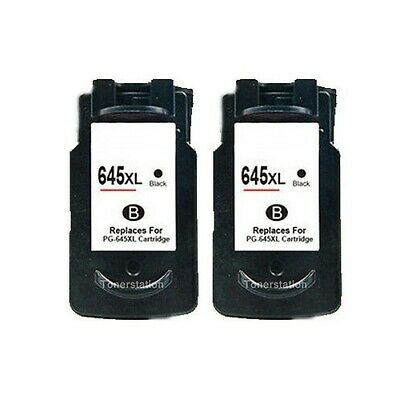 2x Ink Cartridges Black Only PG-645 XL for Canon PIXMA MG2460 2560 2960 2965