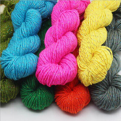 New Knitting Wool Yarn for Handmade Scarf Sweater Yarn With Gold Line
