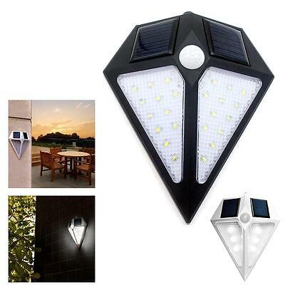 Solar Powered Wall 24 LED Light Outdoor Garden Path Landscape Fence Yard Lamp#BO