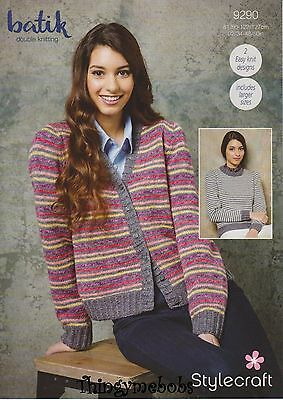 "Stylecraft 9290 Batik Dk Sweater/cardigan Original Knitting Pattern - 32""-50"""