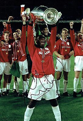 Andy COLE SIGNED Autograph Man Utd Photo 1 AFTAL COA Champions League WINNER