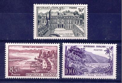 FRANCE 1959 Landscapes - Three MNH values to 100F - Cat £54  - (149)