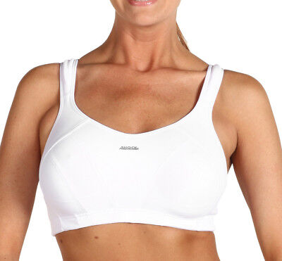 Shock Absorber Max Ladies Training Fitness Sports Gym Support Bra - White