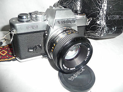 Camera  YASHICA FR + Yashica 1.7 50mm lens + black  case.. A4