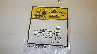 Philips Ecg 965 3 Terminal Negative 8V 1.5A Max Integrated Circuit Nib