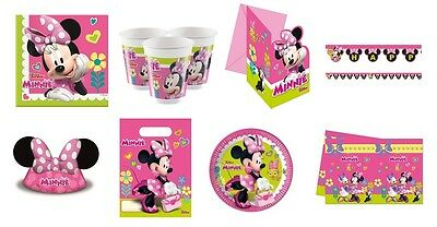 Disney MINNIE MOUSE HAPPY HELPERS Birthday Party Range Tableware & Decorations