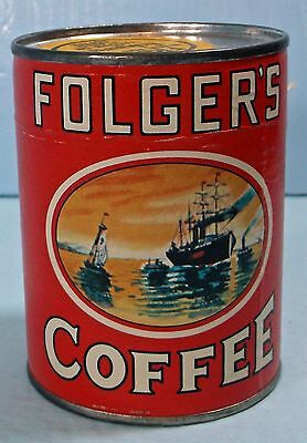 Advertising Folgers Cardboard Coffee Can Puzzel - New - Unopened