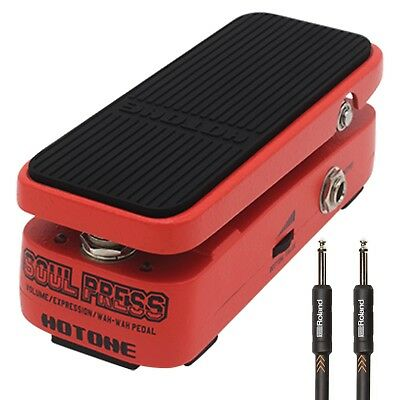 """Hotone Soul Press Volume/Expression/Wah Pedal + 15ft 1/4"""" TS Instrument Cable"""