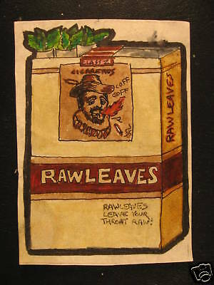1974 Topps Wacky Packages Rough Art Raw Leaves