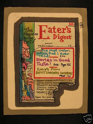 1974 Topps Wacky Packages Rough Art Eater's Digest