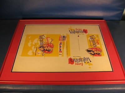 1959 Topps Funny Valentines 1 Cent Display Box Sheet