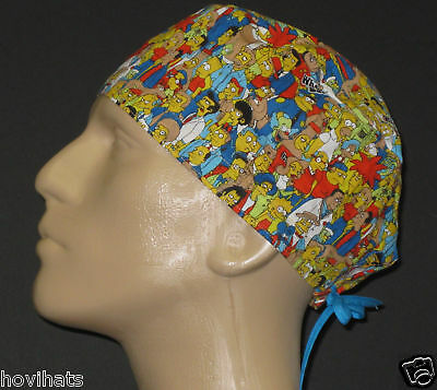 Bart Simpson Characters Scrub Hat Medical Free Custom Sizing!