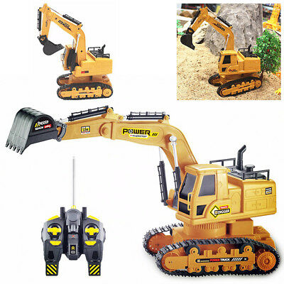 Remote Control 1:16 Excavator Wireless 7 Channels RC Construction Vehicle Toy