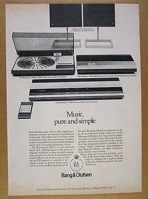 1978 Bang & Olufsen Beosystem 2400 Stereo System beomaster receiver vintage Ad