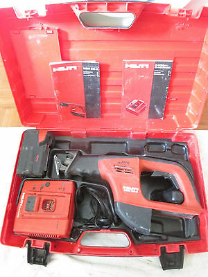 Hilti WSR 36-A Cordless Reciprocating Saw. 36V / 36 Volt w/ Case/Battery/Charger