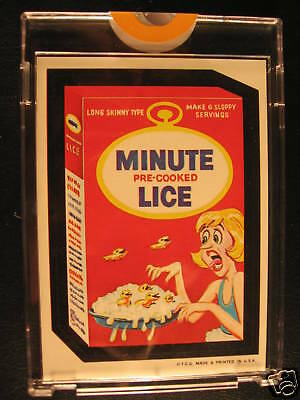 1967 Topps Wacky Packages Die Cuts Proof Minute Lice
