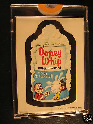 1967 Topps Wacky Packages Die Cuts Proof Dopey Whip