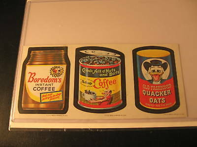 1967 Topps Wacky Packages 3-Card Strip #1-25-44