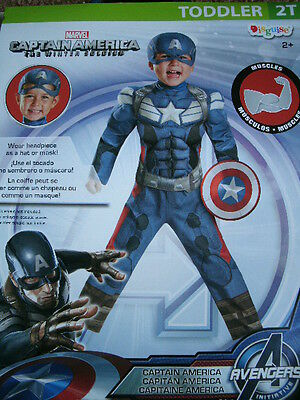 CHILDREN'S HALLOWEEN COSTUME *CAPTAIN AMERICA*  toddler 2T NEW W/PKG