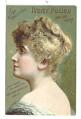 Old Dental Trade Card Ivory Polish For Teeth Fleming Brothers Pittsburgh PA