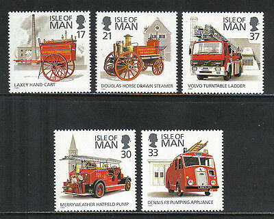 Isle of Man 1991 Historic Fire Engines--Attractive Topical (477-81) MNH