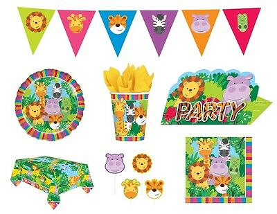 JUNGLE FRIENDS Birthday PARTY NEW Tableware Balloons Decorations Supplies