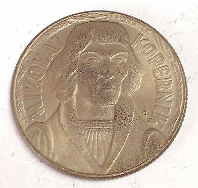 1959 Poland 10 Zlotych, Copernicus astronomer coin, Y#51