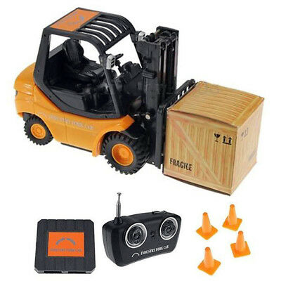 Radio Remote Control Toy RC 6 CH Forklift Truck Mechanical Model Toy 20cm