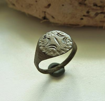 Medieval bronze ring  (222).