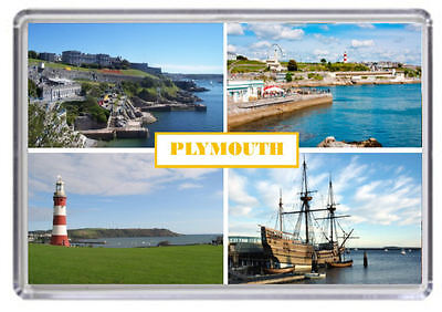 Plymouth Devon Fridge Magnet