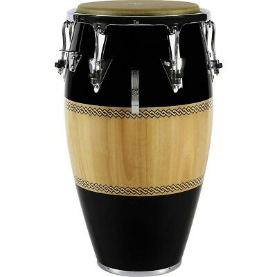 LP Performer Series Conga with Chrome Hardware 12.5 in. Tumba Black/Natural LN