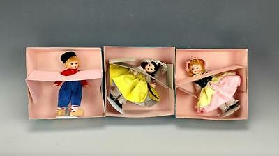 "Madame Alexander 8"" Dolls Lot Of 3 In Original Boxes"