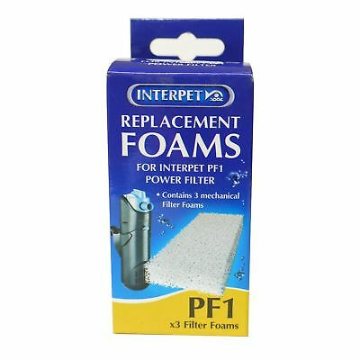Interpet Limited Replacement Plain Foams For Interpet PF1 Power Filter (Pack Of