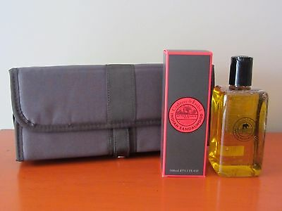 Crabtree & Evelyn INDIAN SANDALWOOD After Shave Balm & Hair & Body Wash & Bag