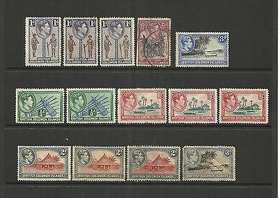 Solomon Islands ~ 1939 King George Vi Small Collection (Part Set)