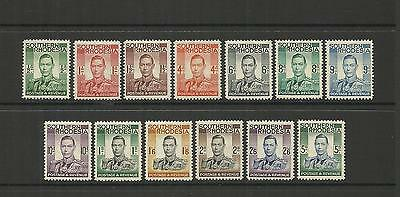 Southern Rhodesia (Zimbabwe) ~ 1937 King George Vi Definitives (Mh)