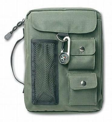 NEW Compass Canvas Extra Large Olive Green Book & Bible Cover [With Compass]