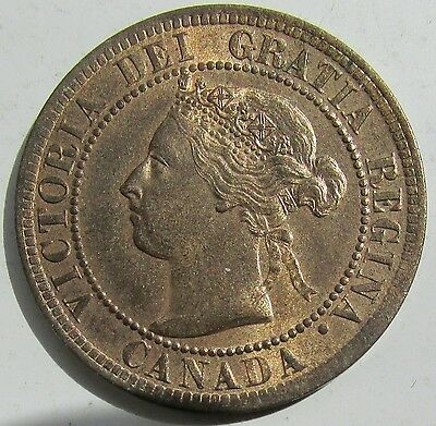 Canada, 1895 Large Cent 1c Penny, Victoria, High Grade
