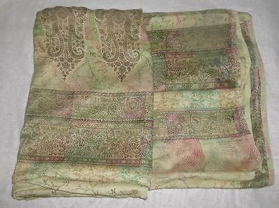 Very-Impressive-COLOR-Vintage-Fabric-5-yard-Pure-Silk-Sari-Saree-India