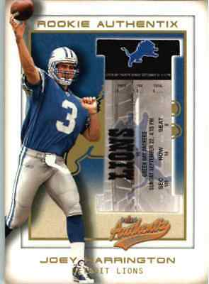 2002 Fleer Authentix Joey Harrington /250 #102