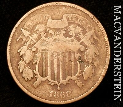 1868 Two Cent- Scarce !! Better Date !!  #u8213