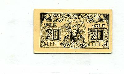 Mexico 20 Cents Cardboard Note 1915 20 Cents Xf Nr 6.50