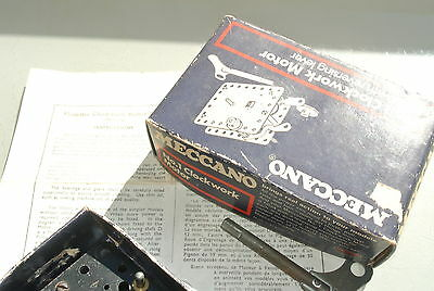 damaged old Meccano No 1 Clockwork Motor with Key inc box and instructions BOX